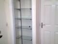 Glass display cabinet door and glass shelveshelves